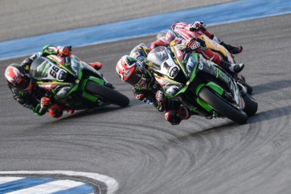 Jonathan Rea lead race 1 of WorldSBK at Buriram, Thailand