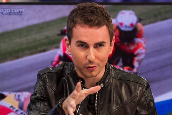 MADRID, SPAIN - NOVEMBER 23: Jorge Lorenzo attends 'El Hormiguero' TV Show on November 23, 2015 in Madrid, Spain. (Photo by Alberto Alcocer/Getty Images)