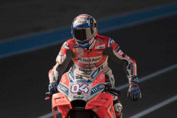 LE MANS, FRANCE - MAY 20: Andrea Dovizioso of Italy and Ducati Team starts from box before the MotoGP race during the MotoGp of France - Race on May 20, 2018 in Le Mans, France. (Photo by Mirco Lazzari gp/Getty Images)